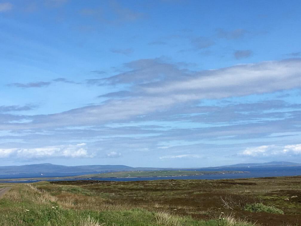 Insel Orkney im Hintergrund