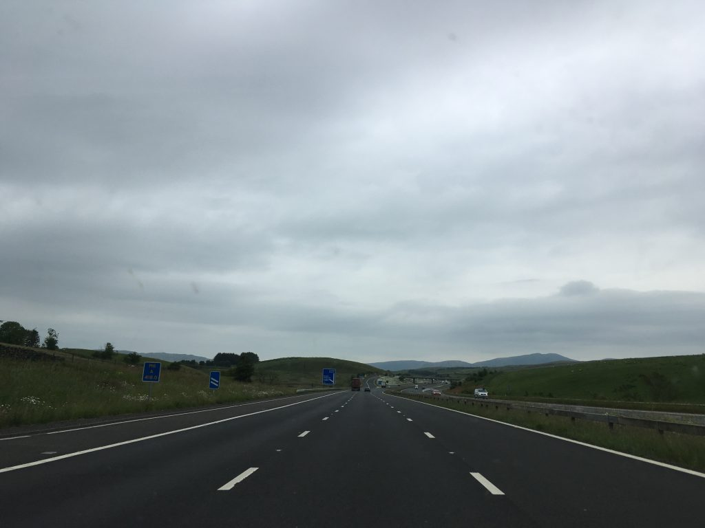 on the way to Scotland