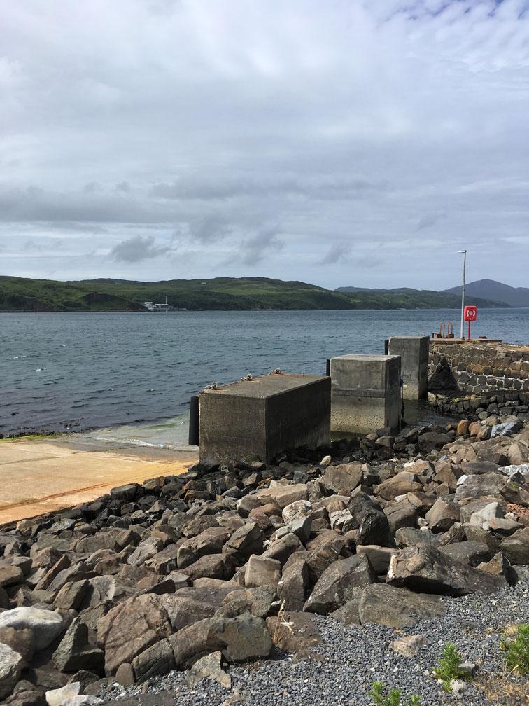 Feolin Hafen auf der Insel Jura